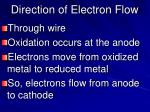 direction of electron flow