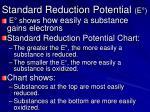standard reduction potential e