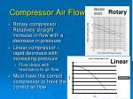 compressor air flow