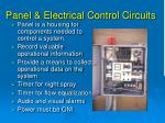 panel electrical control circuits