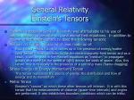 general relativity einstein s tensors