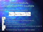 general relativity gravitational field equations