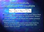 general relativity gravitational field equations1