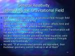general relativity identifying the gravitational field