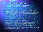 general relativity the consequences
