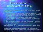 general relativity the equivalence principle