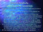 general relativity understanding geodesics