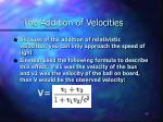the addition of velocities1