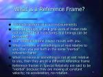 what is a reference frame