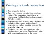 creating structured conversations
