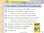 7 the bible is reliable scientifically