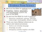 evidence from science