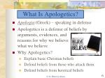what is apologetics