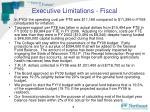 executive limitations fiscal