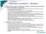 executive limitations students