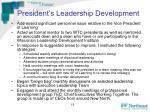 president s leadership development