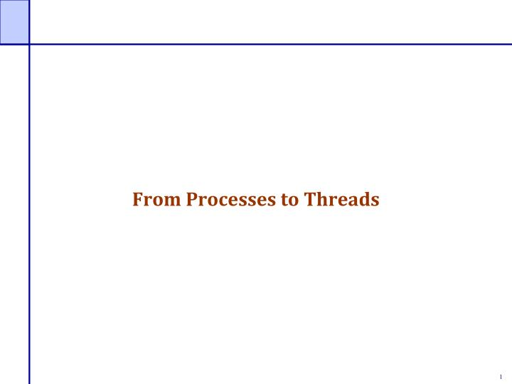 from processes to threads n.