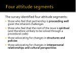 four attitude segments