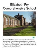 elizabeth fry comprehensive school