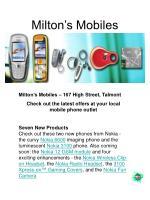 milton s mobiles