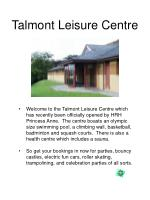 talmont leisure centre