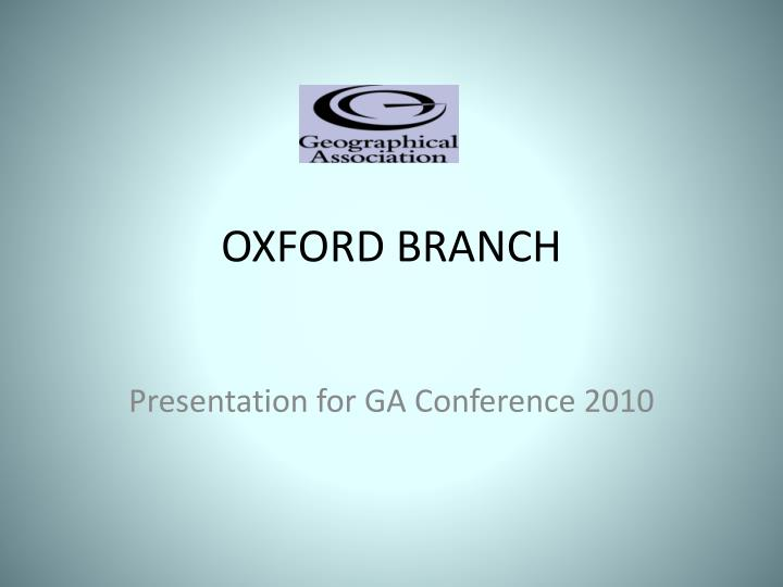 oxford branch n.
