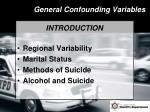 general confounding variables