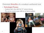 potential benefits of a student authored text2