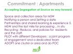 commitment apartments