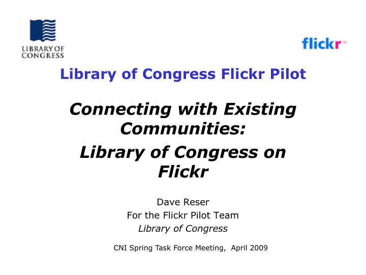 library of congress flickr pilot n.