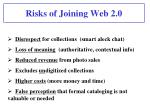 risks of joining web 2 0
