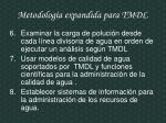 metodolog a expandida para tmdl