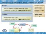 understanding expression blend triggers and actions