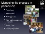 managing the process in partnership