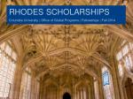 rhodes scholarships