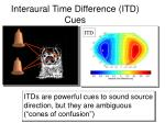 interaural time difference itd cues