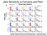 joint sensitivity to formants and pitch