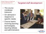 targeted staff development