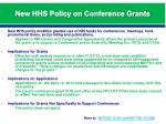new hhs policy on conference grants