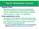 tips for esubmission success1