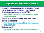 tips for esubmission success2