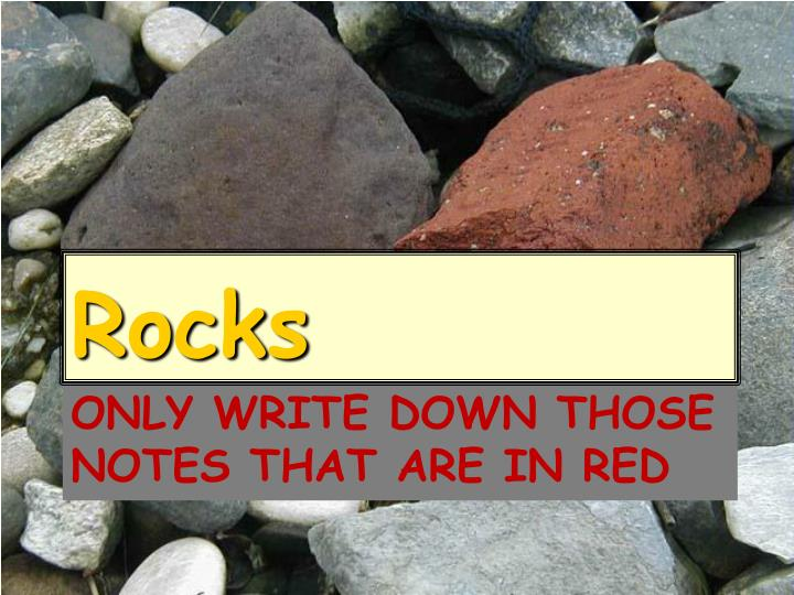 only write down those notes that are in red n.