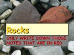 only write down those notes that are in red