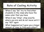 rate of cooling activity