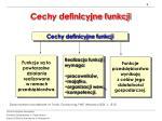 cechy definicyjne funkcji