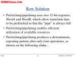 row solution