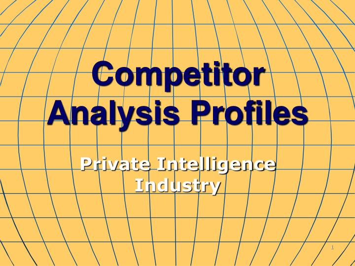 competitor analysis profiles n.