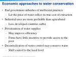 economic approaches to water conservation