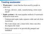 treating wastewater