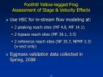 foothill yellow legged frog assessment of stage velocity effects